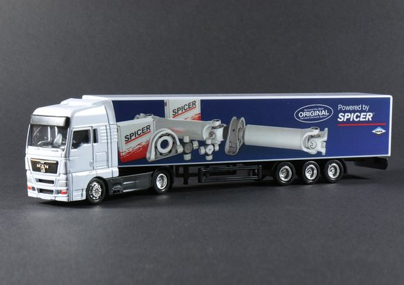 Truck Modell MAN size 1:87, PVC box included